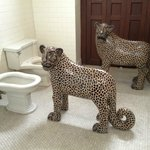 Jaguars, humorously displayed in the toilet