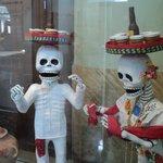 Papier-mache skeletons