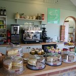 Wide selection of cakes and real coffee