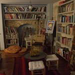 The library (which overlooks the living room)