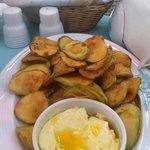 Zucchine fritte alla greca