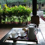 Coffe in one of the courtyards.  Great way to start the day.