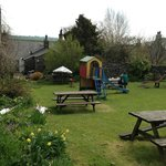Beer garden, The Game Cock Inn, Austwick