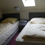 two single beds, top floor