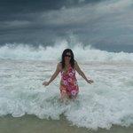 Esta area de la playa es divertidisima, aunque posee olas es llana, me encanta!