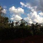 vista para a ponte ferro..