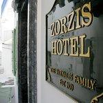 Hotel front door sign