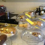 The cakes, buns, biscuits (and the chilled wine!)