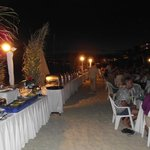 one of the dinners on the beach
