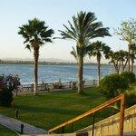 La vue sur le Nil des jardins