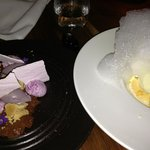 Our two desserts - one was chocolate based, the other I think I deconstructed lemon meringue pie