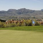 Sonora Dunes Golf Course looking west over Spirit Ridge Resort and Lake Osoyoos