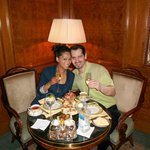 the new mr and mrs having 'Chanpaign Brunch' at the Ritz