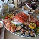 Waterfront seafood platter