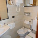 Our brand new bathroom with hairdryer and daily products