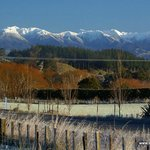 winter view of the Tararua Ranges from the Summit Lodge