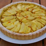 home cooking and baking - this is our pear and saffron tart
