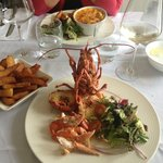 My delicious local lobster - I defy you not to salivate!