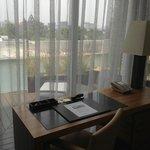 Desk to balcony