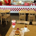 Five Guys Cheeseburger and Small Fries