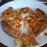 Cheese and garlic pizza