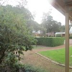 View from room entrance towards carpark.