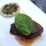 Sultan's delight - tamarind beef and eggplant puree