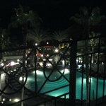 View of the pool at night - they are supposed to bring back the LED lights in the pools.
