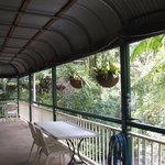 Veranda,gets early morning sun,breakfast served there.