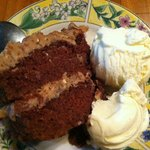 Home made German Chocolate Cake.  Yum!!