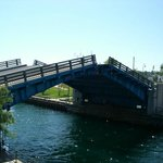 Drawbridge and the main channel is right by the outside seating!