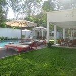 Swimming pool, Vitality bar, garden