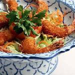 Deep fried prawns