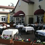 Outdoor seating--elegant and relaxing.