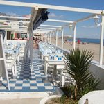 Borsalino restaurant on Mediterrean beach