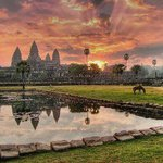 Sun get up in Angkor Wat