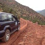 En route to a hidden berber village, Altas mountains