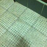 River cabin bathroom floor