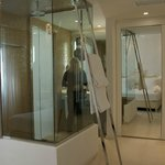 In room glass shower box