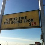 "Limited time ""Nice rooms""."