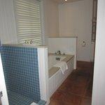 bathroom in ocean view room