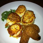 Scallops with Andouille