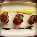 Scallops, Black Pudding and Whole Grain Hollandaize