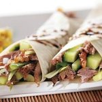 Yummy aromatic crispy duck pancakes at the Ruby.