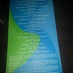 The bar cocktail menu.