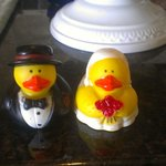 Wedding rubber ducks that the hotel provided! So cute!