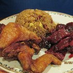 #7 Chicken Wings, Boneless Ribs and Fried Rice