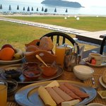 Breakfast looking out to sea