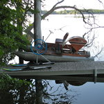 Get your daily exercise while enjoying the vintage paddleboat on pristine Elbow Lake