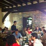 equipo de filmaren da Globo Tv en Hotel Roncesvalles